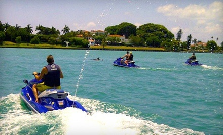 $89 for One-Hour Jet Ski and Snorkel Trip for Two from Miami Jet Ski Rental ($190 Value)