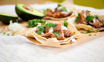 Mexican Dinner for Two or Four with Tacos or Combo Platters and Soft Drinks at Tacos Y Mas (45% Off)