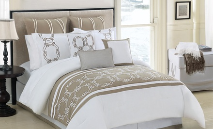 groupon daily deal - 10-Piece Cape Cod Comforter Set. Multiple Options Available from $99.99–$109.99. Free Returns.