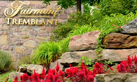 groupon daily deal - 1-Night Stay for Two in a Two-Double Room with Valet Parking at Fairmont Tremblant in Quebec