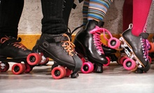 Open Roller-Skating with Skate Rentals for Two or Four at The Rink (Up to 53% Off)
