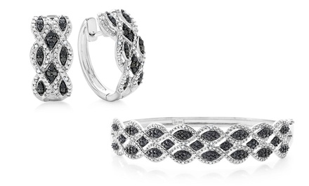 1/3 CTTW Black & White Diamond Earrings or Bracelet