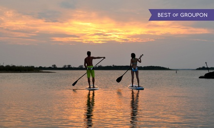 SUP Intro Class and Two Hours of Paddleboarding Time for One, Two, or Four from DFW Surf (Up to 61% Off)