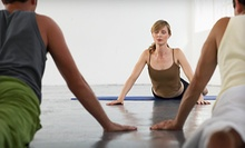 Five Classes or One, Two, Three, or Four Months of Unlimited Classes at Aum Center Yoga (Up to 72% Off)