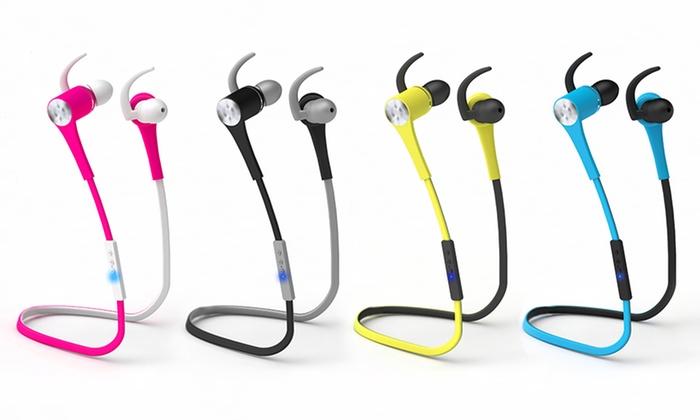 POM Gear Sport Bluetooth 4.1 Wireless Earbuds with Mic