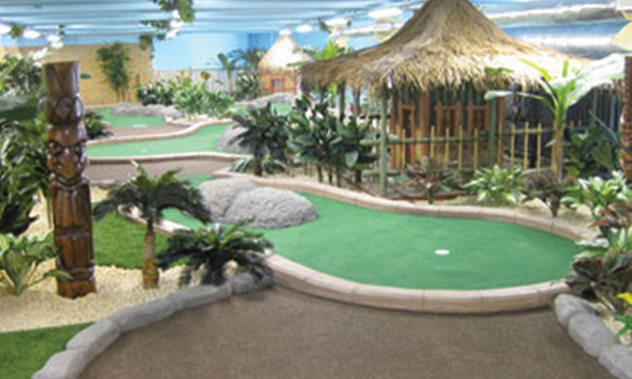 Adventure Island Mini Golf - Birmingham: Adventure Island Mini Golf, Star City: 18 Holes from £6 For Two or Family of Four £10 (Up to 53% Off)