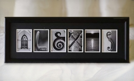 $59 for $140 Worth of Personalized and Framed Alphabet-Photography Keepsake Art from Sticks and Stones