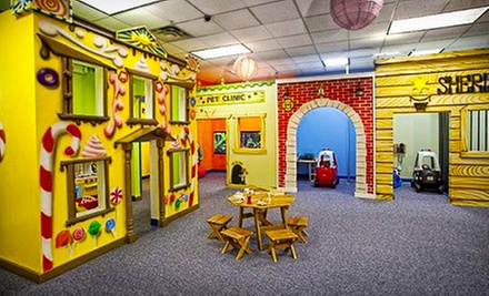 Three or Six Groupons, Each Good for One Open-Play Session at Kids Town (Half Off)