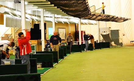 Indoor Driving Range, Golf Simulator, or Access to Both at The Golf Dome (Up to 53% Off)