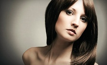 Haircut and Style with Optional Partial Highlights and Gloss, or Keratin Treatment at e's Salon (Up to 61% Off)