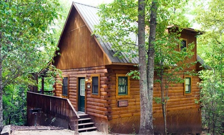 groupon daily deal - 2-Night Stay for Up to Four at Mountain Vista Log Cabins in Bryson City, NC