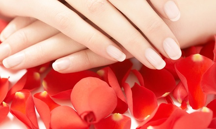 Shellac Manicure with Option for Paraffin Treatment at Radiant Nail & Spa(Up to 47% Off)