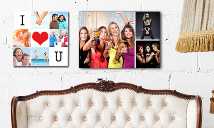 Grange Print: Personalised Collage Canvas Print from £8.95 (Up to 83% Off)