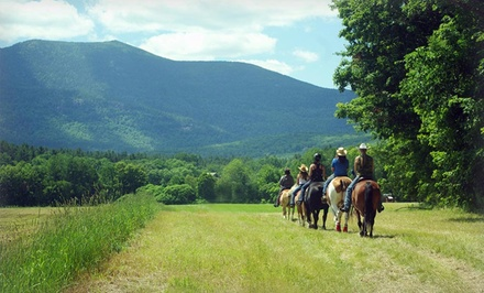 groupon daily deal - 2- or 3-Night Stay for Two at Farm by the River Bed and Breakfast with Stables in North Conway, NH