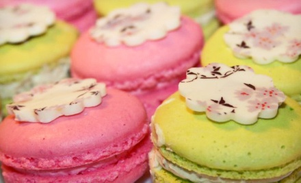 $19 for One Dozen Assorted Macarons or Mini Cupcakes at Sugartiers ($42 Value)