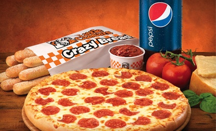$5 for $10 Worth of Pizza, Crazy Bread, Italian Cheese Bread, and Wings at Little Caesars. 15 Locations Available.