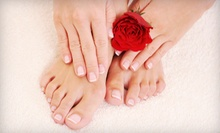 Shellac or Solar Manicure, or Deluxe Pedicure at A1 Designer Hair &amp; Nails (Half Off)