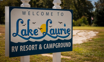 groupon daily deal - 2- or 7-Night Stay for Two at Lake Laurie RV and Camping Resort in Cape May, NJ. Up to Four Kids 8 or Younger Stay Free.