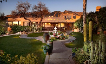 groupon daily deal - 1-Night Stay for Up to Four with Wine and Optional Dining Credit at Hacienda Del Sol Guest Ranch Resort in Tucson, AZ