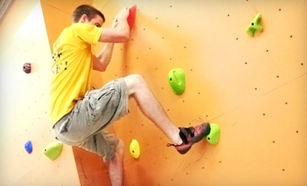 Beginners&#x27; Rock-Climbing Class or Climbing Package with Shoe Rental for Two, Three, or Four at The Wall (Up to 55% Off)