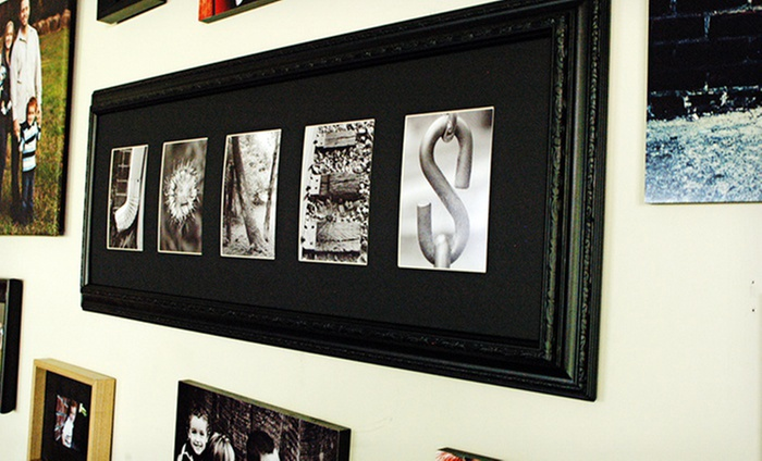Frame the alphabet custom framed letter art groupon for Custom letter art groupon