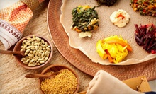 Ethiopian Food and Drinks for Two, Four, or More at Addis Ababa Restaurant (Half Off). Four Options Available.