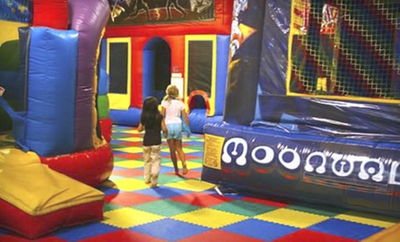 One, Five, or Eight Open-Bounce and Arcade Sessions at Space Kidets (Half Off)