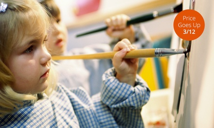 Five-Week Art Course for One or Two Kids at The Paintbrush (Up to 65% Off)