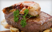 $25 for $50 Worth of Surf 'n' Turf Dinner for Two or More at Scampi's Restaurant