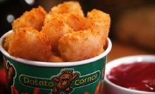 Fries, Chips, and Baked Potatoes at Potato Corner USA (Half Off). Two Options Available.