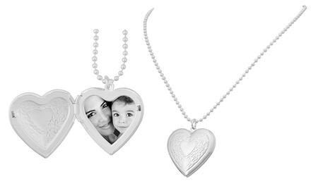 Colar com pendente em forma coração para colocar fotografia no interior por 9,99€