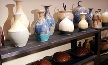 BYOB Friday Night Pottery Glazing and Firing Session for One or Two at Mighty Mud (Up to Half Off)