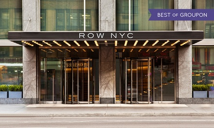groupon daily deal - Stay at Row NYC in Times Square, with Dates through Labor Day Weekend