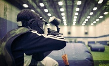 $23 for Indoor Paintless-Paintball Package with Chest Protector, 1,400 Balls, and a Burger at Westmont Yard ($47 Value)
