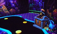 Black-Light Mini Golf and Ten Arcade Tokens for Two, Four, or Six at Funtagious Fun Center (Up to 56% Off)