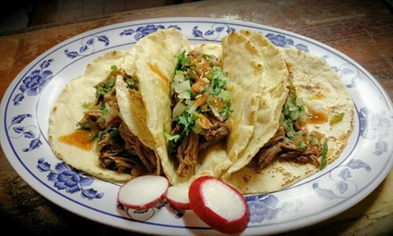 Mexican Cuisine for Two or Four at Chivas Crudas Birrieria Y Taqueria (Up to 50% Off)