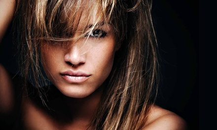 Haircut and Color Services at Moxie Blowdry & Beauty Bar (Up to 79% Off). Eight Options Available.