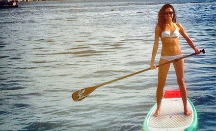 Standup-Paddleboard Rental or Yoga Classes from Wayward Captain Paddleboards (Up to 58% Off). Four Options Available.