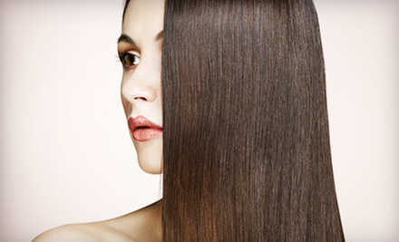 Haircut with Conditioning or Full Highlights, or a Keratin-Smoothing Treatment at J Salon & Spa (Up to 69% Off)