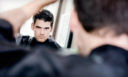 One or Two Men&#x27;s Executive Haircuts with Optional Add-On Services at 18|8 Fine Men&#x27;s Salons (Up to 55% Off)