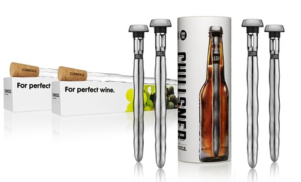 Corkcicle Sets: 2 Wine Chillers or 4 Beer Chillsners from $24.99–$29.99