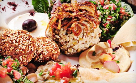 $10 for $20 Worth of Mediterranean Food and Hookah at Jordan Valley Restaurant