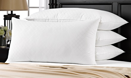 2- or 4-Pack of French Country Hypoallergenic Down-Alternative Diamond Jacquard Pillows