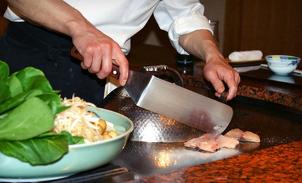 $39 for Hibachi Dinner for Two at Hana Tokyo (Up to $80.85 Value)