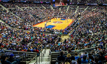 Detroit Pistons Game Package with T-Shirt and Postgame Shot at The Palace of Auburn Hills (Up to 63% Off). Three Games.