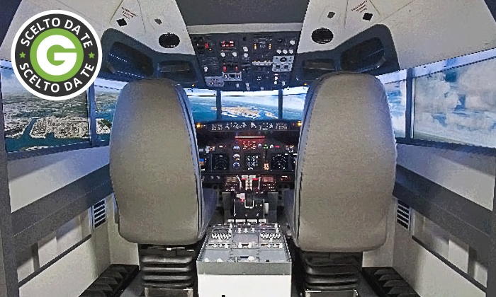 Flight Sim Center - FLIGHT SIM CENTER: Esperienza di volo sul simulatore Boeing 737 o corso per la paura di volare da 39,90 €