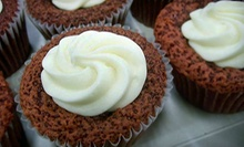One or Two Dozen Vanilla-Orange or Red Velvet Cupcakes at De Novo Delights (Up to 67% Off)
