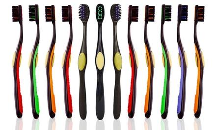 Organic Bristle Toothbrushes (12-Pack)