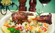 Three-Course Moroccan Meal for Two or Four with Wine at Saffron Caf (Up to 58% Off)