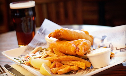 Pub Food and Drinks at Thurston's Pub (Up to 56% Off). Two Options Available.